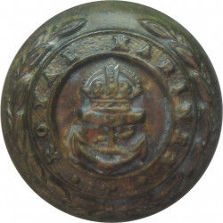 Royal Marines - Officers 17mm with King's Crown. Bronze Military uniform button