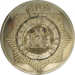 Devonshire Regiment 26mm - Gold Colour with Queen Elizabeth's Crown. Anodised Staybrite military uniform button