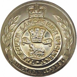 Mobile Defence Corps - 1955-1959 26mm - Gold Colour with Queen Elizabeth's Crown. Anodised Staybrite military uniform button