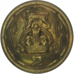 2nd Life Guards 26mm - 1902-1922 with King's Crown. Brass Military uniform button