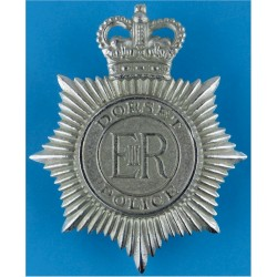 Staffordshire Police - Knot Centre - Post-1974 Helmet Star - Enamel with Queen Elizabeth's Crown. Chrome and enamelled Police or