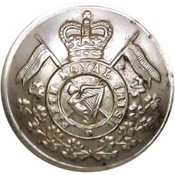 16th/5th The Queen's Royal Lancers 26mm - Gold Colour with Queen Elizabeth's Crown. Anodised Staybrite military uniform button