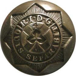 4th Royal Irish Dragoon Guards 25mm -1855-1904  Brass Military uniform button