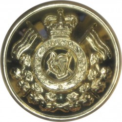 16th/5th The Queen's Royal Lancers 20mm - Gold Colour with Queen Elizabeth's Crown. Anodised Staybrite military uniform button