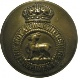 Royal Warwickshire Regiment - Circlet - With Rim 25.5mm - Pre-1935 with King's Crown. Brass Military uniform button