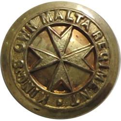 King's Own Malta Regiment 13.5mm  Gilt Military uniform button
