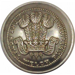 Royal Welch Fusiliers  (PoW's Feathers Pattern) 25.5mm - Gold Colour  Anodised Staybrite military uniform button