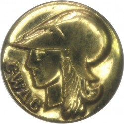 Canadian Women's Army Corps 16.5mm - 1941-1964  Brass Military uniform button