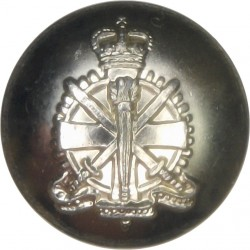 Army Apprentices School  Pre-C.1967 19mm - Gold Colour with Queen Elizabeth's Crown. Anodised Staybrite military uniform button