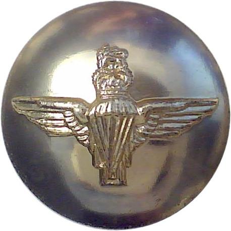 Parachute Regiment 19mm - Gold Colour with Queen Elizabeth's Crown. Anodised Staybrite military uniform button