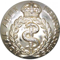 Royal Army Medical Corps 26mm - Gold Colour with King's Crown. Anodised Staybrite military uniform button