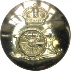 Royal Artillery 23mm - Gold Colour with King's Crown. Anodised Staybrite military uniform button