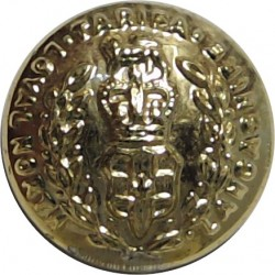 Military Provost Staff Corps 18mm - Gold Colour with Queen Elizabeth's Crown. Anodised Staybrite military uniform button