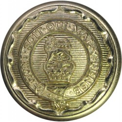 Royal Logistic Corps 19.5mm - Gold Colour with Queen Elizabeth's Crown. Anodised Staybrite military uniform button