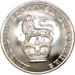 King's Own Scottish Borderers 26mm - Gold Colour with Queen Elizabeth's Crown. Anodised Staybrite military uniform button