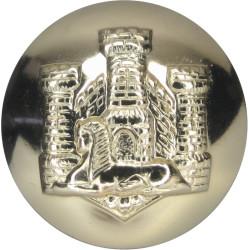 Devonshire & Dorset Regiment 25.5mm - Gold Colour  Anodised Staybrite military uniform button
