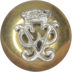 Wiltshire Regiment (Duke Of Edinburgh's) - PP Cipher 14mm Mounted Dome  Silver-plate and gilt Military uniform button