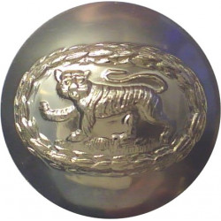Royal Anglian Regiment (Tiger In Oval Wreath) 19.5mm - Gold Colour  Anodised Staybrite military uniform button