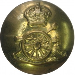 Royal Artillery 25.5mm - Rare Size with King's Crown. Brass Military uniform button