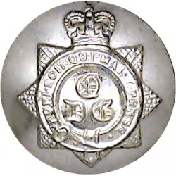 1st The Queen's Dragoon Guards 19mm - Gold Colour with Queen Elizabeth's Crown. Anodised Staybrite military uniform button