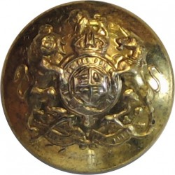 General List - Royal Arms (Officers) 14.5mm - 1902-1952 with King's Crown. Gilt Military uniform button