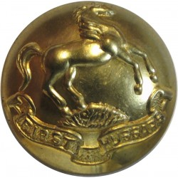 First Hussars (Canadian Army) 25.5mm - 1923-1968  Brass Military uniform button
