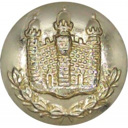 Royal Army Educational Corps 26.5mm - Gold Colour with King's Crown. Anodised Staybrite military uniform button