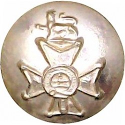 Forester Brigade - 1960-1963 14.5mm - Gold Colour  Anodised Staybrite military uniform button