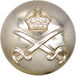 Army Physical Training Corps - Slight Rub 25.5mm - Gold Colour with King's Crown. Anodised Staybrite military uniform button