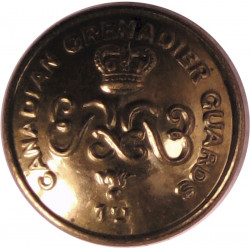Canadian Grenadier Guards 17mm - 1952-1968 with Queen Elizabeth's Crown. Brass Military uniform button