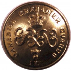 Canadian Grenadier Guards 19mm - 1952-1968 with Queen Elizabeth's Crown. Brass Military uniform button