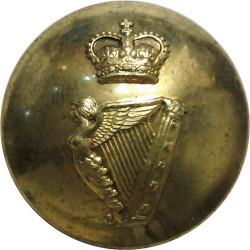 Irish Regiment Of Canada 25.5mm - 1952-1965 with Queen Elizabeth's Crown. Brass Military uniform button