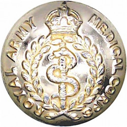 Royal Army Medical Corps 19mm - Gold Colour with King's Crown. Anodised Staybrite military uniform button