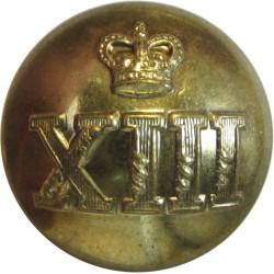 Royal Hamilton Light Infantry (Wentworth Regiment) 25.5mm - 1952-1968 with Queen Elizabeth's Crown. Brass Military uniform butto