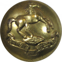 First Hussars (Canadian Army) 19.5mm - 1923-1968  Brass Military uniform button