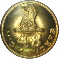 48th Regiment (Highlanders) (Canada) - With Rim 19.5mm - 1945-1968  Brass Military uniform button