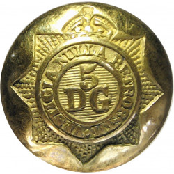 5th Dragoon Guards (Princess Charlotte Of Wales's) 19mm - 1901-1922 with King's Crown. Gilt Military uniform button
