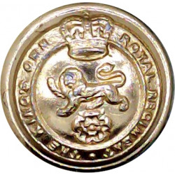 1st The Queen's Dragoon Guards 26mm - Gold Colour Queen's Crown. Anodised Staybrite military uniform button