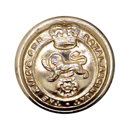 King's Own Royal Regiment (Lancaster) 19.5mm - Screw-Fit with Queen Elizabeth's Crown. Anodised Staybrite military uniform butto