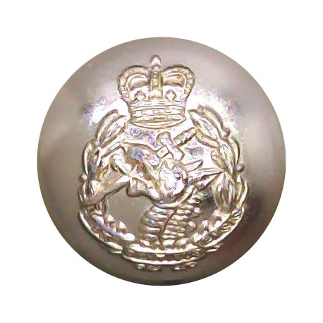 1st The Queen's Dragoon Guards 14mm - Gold Colour with Queen Elizabeth's Crown. Anodised Staybrite military uniform button
