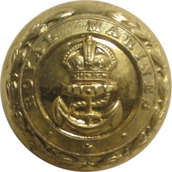 Royal Marines - Officer Quality 24mm - 1923-1952 with King's Crown. Gilt Military uniform button