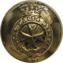 Royal Malta Militia - Jubilee Crown 21.5mm - 1889-1901 with Queen Victoria's Crown. Brass Military uniform button