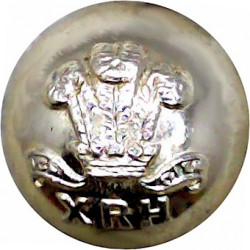 10th Royal Hussars (Prince Of Wales's Own) 18mm Ball Button  Anodised Staybrite military uniform button