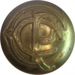 Canadian Postal Corps 19.5mm - 1911-1961  Brass Military uniform button