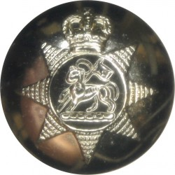 Queen's Regiment - 1967-1992 19mm - Gold Colour with Queen Elizabeth's Crown. Anodised Staybrite military uniform button