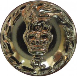 Royal Army Medical Corps 19mm - Gold Colour Queen's Crown. Anodised Staybrite military uniform button