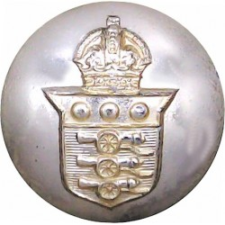 Royal Army Ordnance Corps 25mm - Gold Colour with King's Crown. Anodised Staybrite military uniform button