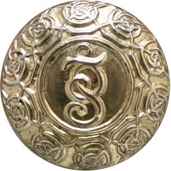 Garda Siochana (Irish Police) 16.5mm  Gilt Police or Prisons uniform button