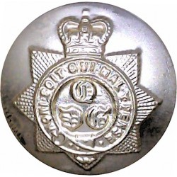 1st The Queen's Dragoon Guards 26mm - Gold Colour with Queen Elizabeth's Crown. Anodised Staybrite military uniform button