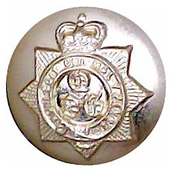 Staffordshire Regiment (The Prince Of Wales's) 14.5mm - Gold Colour with Queen Elizabeth's Crown. Anodised Staybrite military un